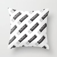 lesbian Throw Pillows featuring CHAPSTICK LESBIAN by Studio 566 / Penny Collins