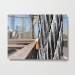 Brooklyn Bridge Cable Metal Print