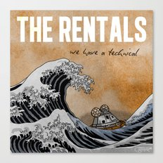 7 inch series: The Rentals - We have a technical Canvas Print