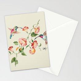 hummingbirds & morning glories Stationery Cards