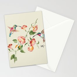 hummingbirds & morning glories Stationery Cards