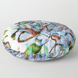 abstract stone and running water 1 Floor Pillow