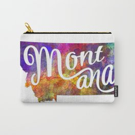 Montana US State in watercolor text cut out Carry-All Pouch