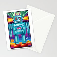 Pixel Robot Stationery Cards