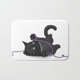 Black Kitten Bath Mat