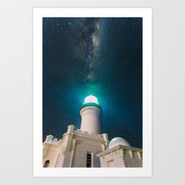 Byron Bay Lighthouse and the Milky Way Art Print