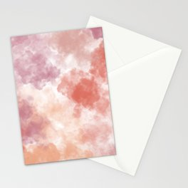 Pastel watercolor clouds Stationery Cards