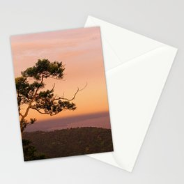 Lone Tree at Dusk Stationery Cards