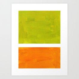 Retro Lime Green Minimalist Abstract Color Block Rothko Midcentury Modern Art Art Print