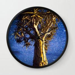 Quivertree at Night Wall Clock