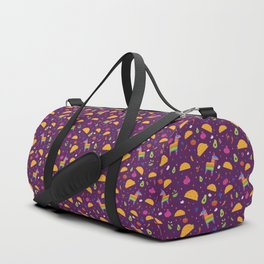 Taco Fiesta in Purple Duffle Bag