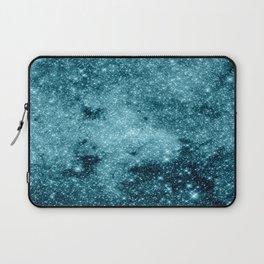 Teal Galaxy STars Laptop Sleeve