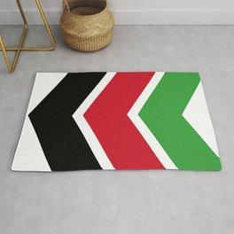 Chevron Malawi Flag Colors Rug