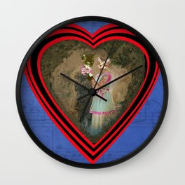"""Chats amoureux 1900, la partition"" / ""Lovers cats 900, the partition"" Wall Clock"