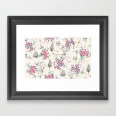 Deer pattern Framed Art Print