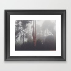 Stand out in the fog Framed Art Print
