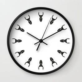 Bugs: abstract Stag Beetle Wall Clock