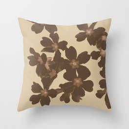 Toffee Soybean Primrose Pattern Throw Pillow