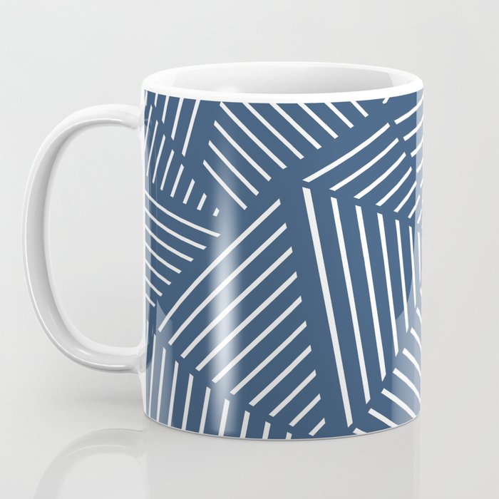 Abstraction Linear Zoom Navy Coffee Mug