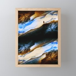Vision of fire and ice Framed Mini Art Print