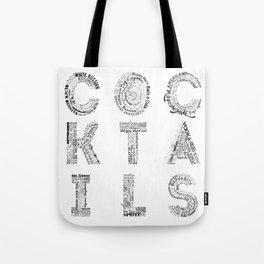 Cocktails Tag Cloud Tote Bag