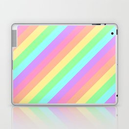 Pastel Rainbow Diagonal Stripes Laptop & iPad Skin