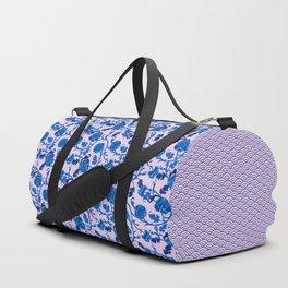 Peonies Oriental Ceramic on Pink Duffle Bag