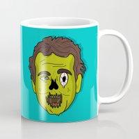 murray Mugs featuring ZomBill Murray by Chelsea Herrick