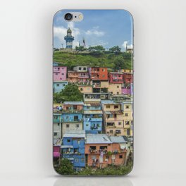 Colorful Houses on a Hill iPhone Skin