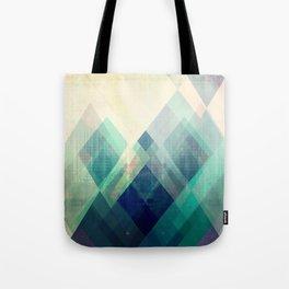 Mountains print, Abstract print, geometric wall art, abstract mountain, minimalist art, modern art, Tote Bag