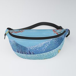 Winter Mountain Colorful Fields Fanny Pack
