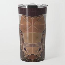 Bull PolyZen Art Travel Mug