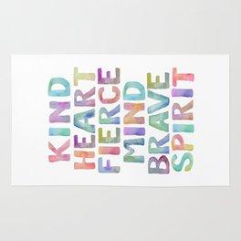 Kind Heart Fierce Mind Brave Spirit Printable Tribal Nursery Quote Girl Tribal Decor Tribal Wreath Rug