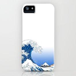 The White Version Of The Great Wave Off Kanagawa - Hokusai's (Edo, Japan) iPhone Case