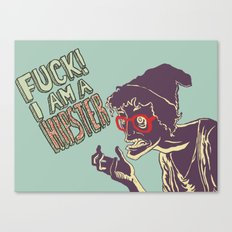 Fuck, I am a hipster! Canvas Print