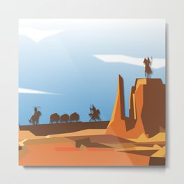 Land Of The American Natives No. 3 Metal Print