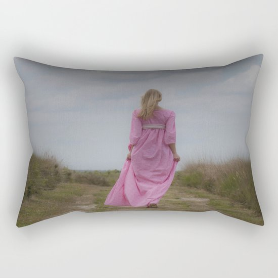 Waking on a rural path Rectangular Pillow