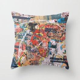 World Mapsqiuat Throw Pillow