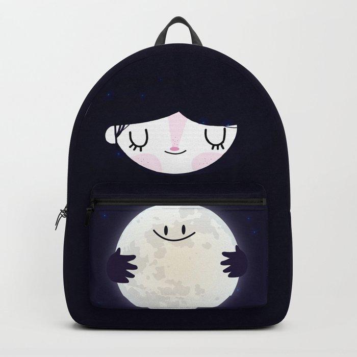 Hug the moon Backpack