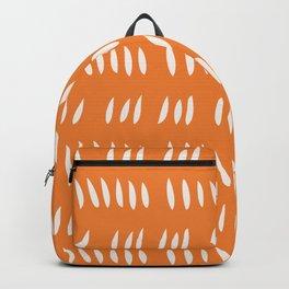 HASH MARK CUTOUTS . TANGERINE Backpack