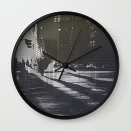 City collage Wall Clock