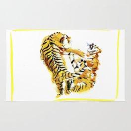 Tiger Fight Rug