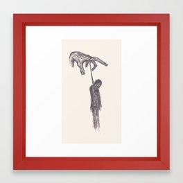 Handing Man Framed Art Print