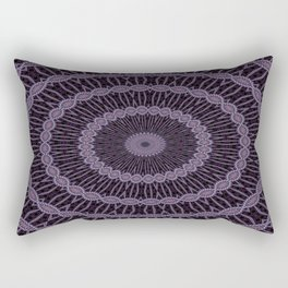 Eggplant and Pale Aubergine Circles Kaleidoscope Pattern Rectangular Pillow