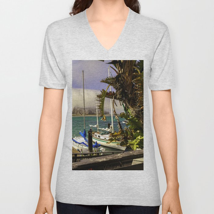 Tropical Morro Bay Unisex V-Neck