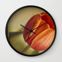 tulip Wall Clocks featuring Tulip by Lawson Images