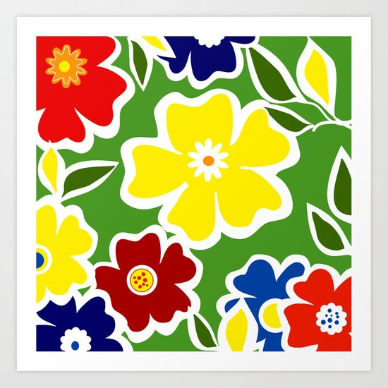 Flowers Fullfilled  Art Print