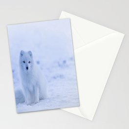 The Arctic Fox in Iceland Stationery Cards