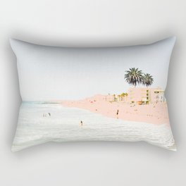 Pink Beach #society6 #decor #buyart Rectangular Pillow