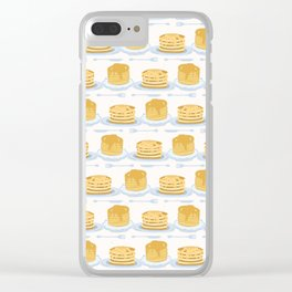 Cute vector homemade pancake day breakfast illustration Clear iPhone Case